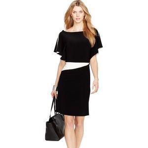 NWT Ralph Lauren Flutter Sleeve Sheath Dress Black